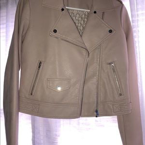 New, American Rag Faux Leather Jacket, pink blush